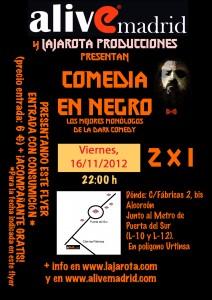 Flyer - Comedia en Negro - 20121116 - Imitaciones Mierder