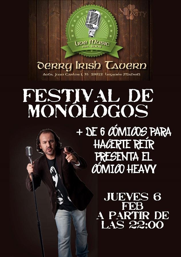 """1er Festival de Monólogos """"Derrysas"""""""