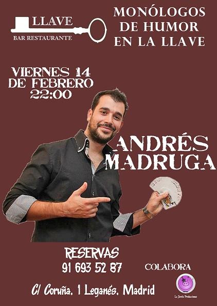 Andrés Madruga en Restaurante La Llave