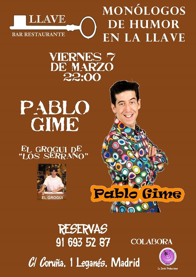 Pablo Gime en Restaurante La Llave