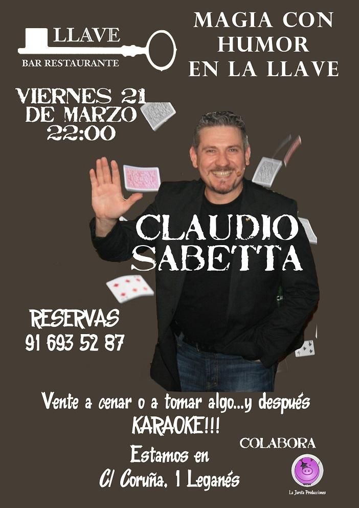 Claudio Sabetta en Restaurante La Llave