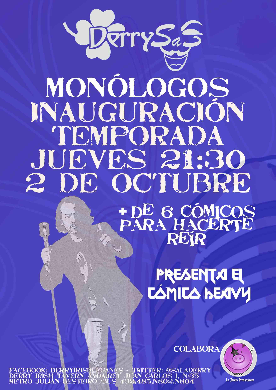 """¡Inauguración de Temporada de Monólogos """"Derrysas""""!"""