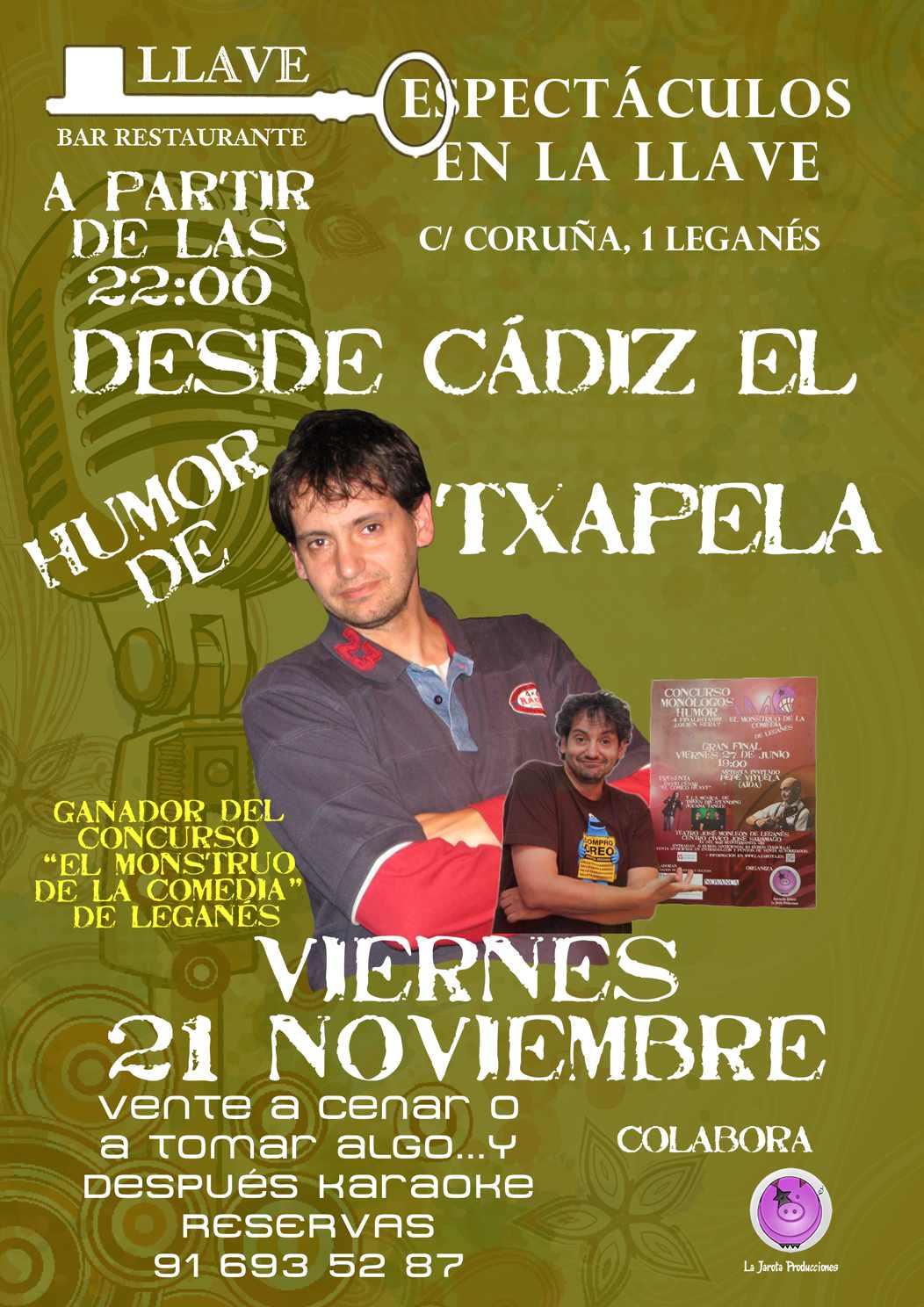 ¡¡¡ Txapela Cádiz en Restaurante La Llave !!!