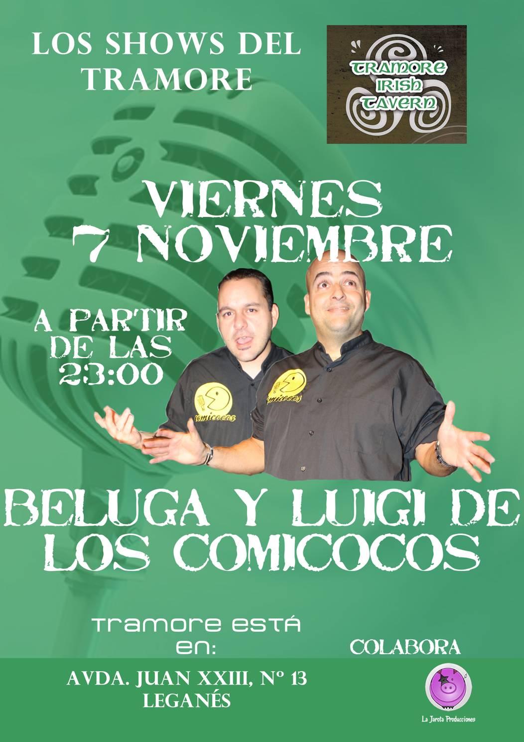 Charlie Beluga y Luigi de los Comicocos en Tramore Irish Tavern