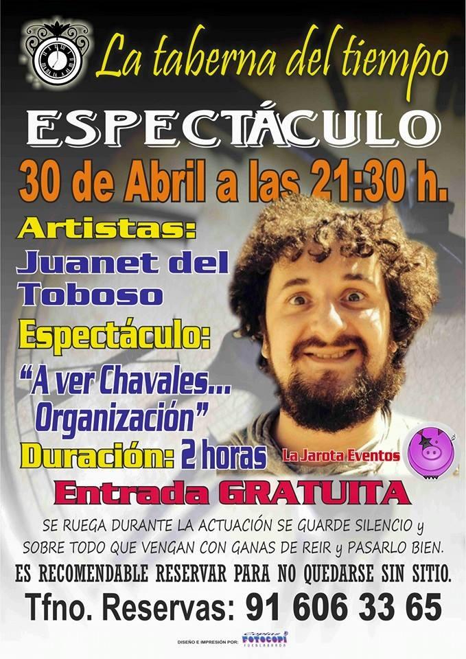 Juanete del Toboso en La Taberna del Tiempo