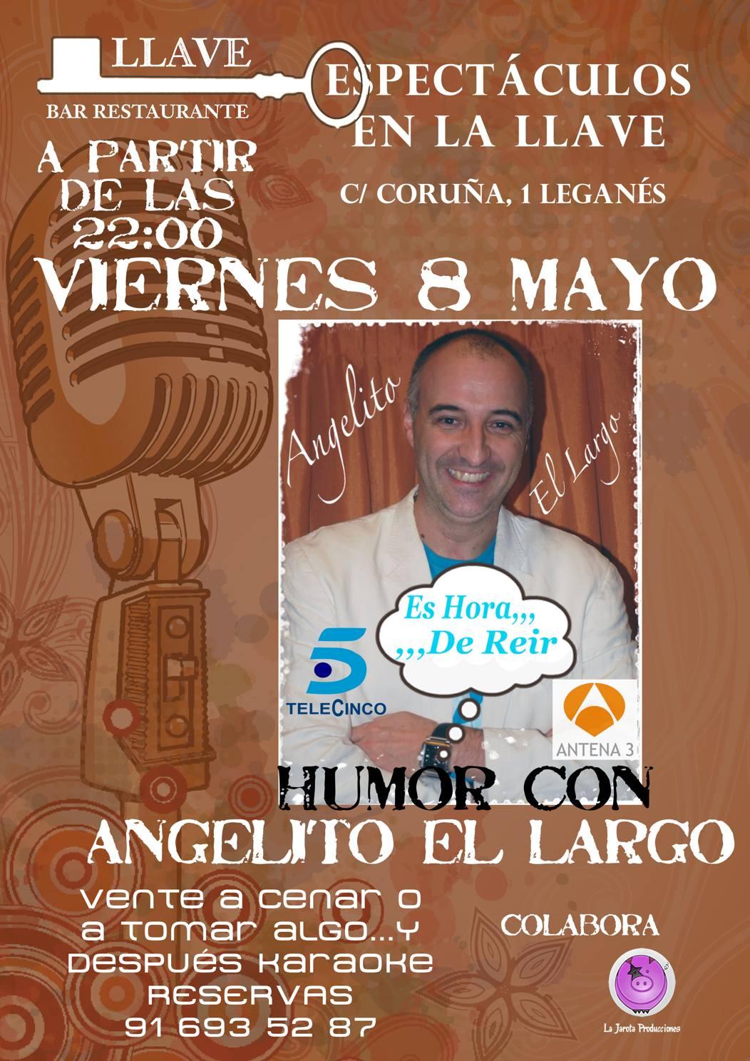 Angelito El Largo en Restaurante La Llave