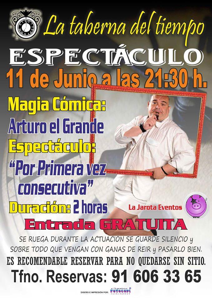 Arturo El Grande en La Taberna del Tiempo