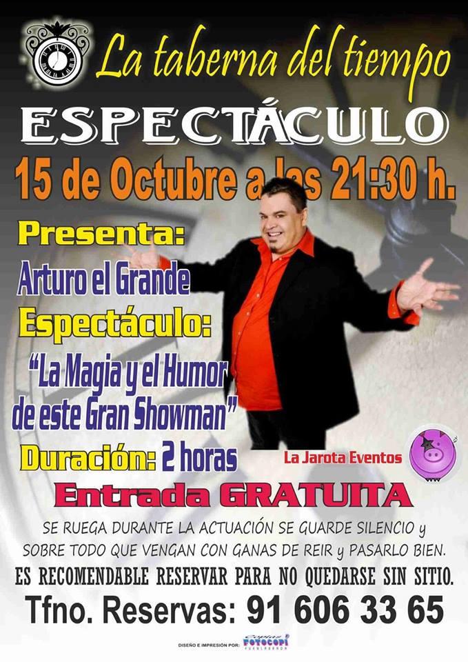 ¡Arturo El Grande vuelve a La Taberna del Tiempo!
