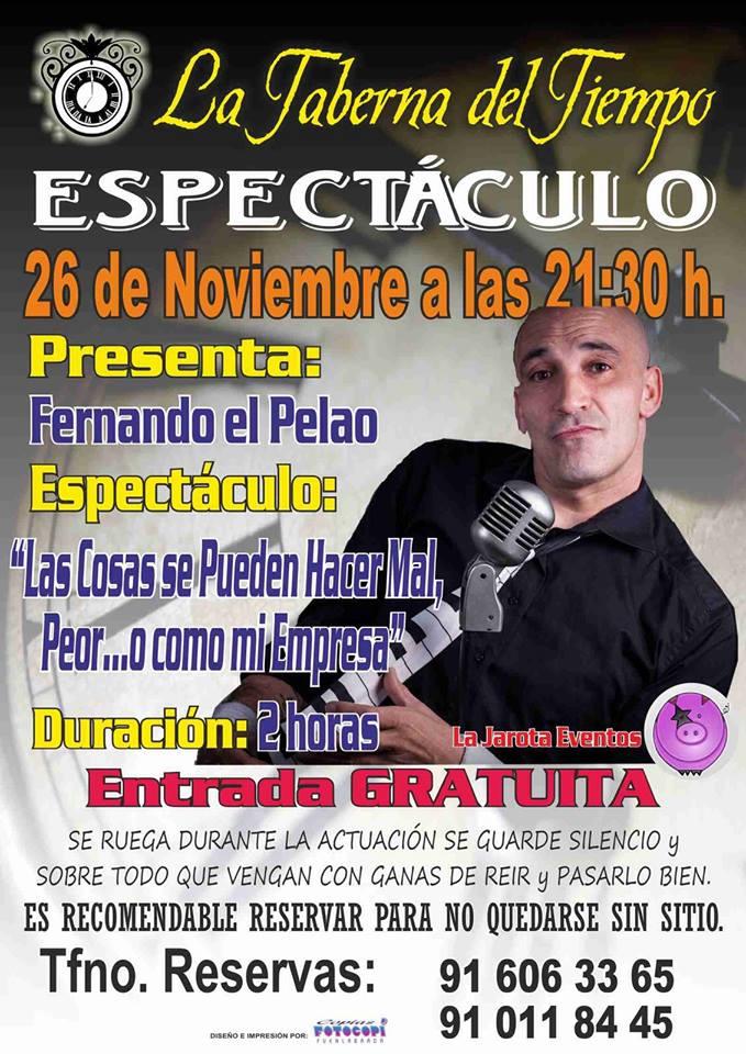 ¡Fernando El Pelao en La Taberna del Tiempo!