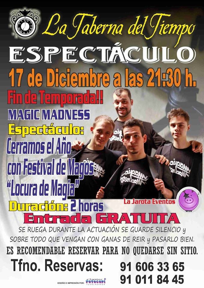 ¡Magic Madness en La Taberna del Tiempo!