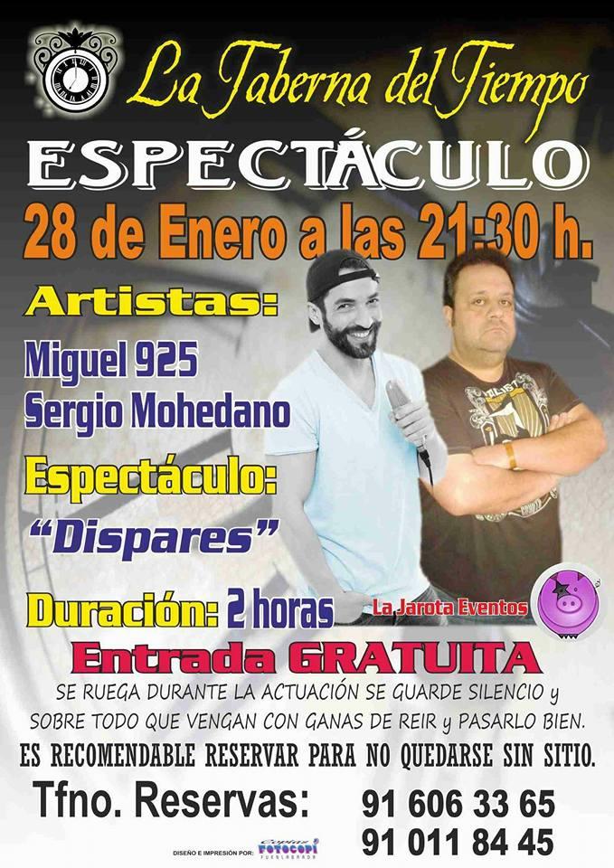 ¡Miguel 925 y Sergio Mohedano en La Taberna del Tiempo!