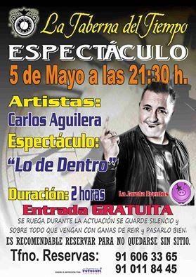 ¡Carlos Aguilera en La Taberna del Tiempo!