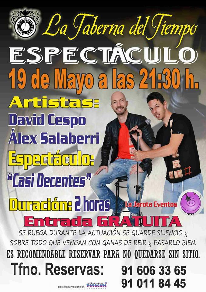 ¡Álex Salaberri y David Cepo en La Taberna del Tiempo!