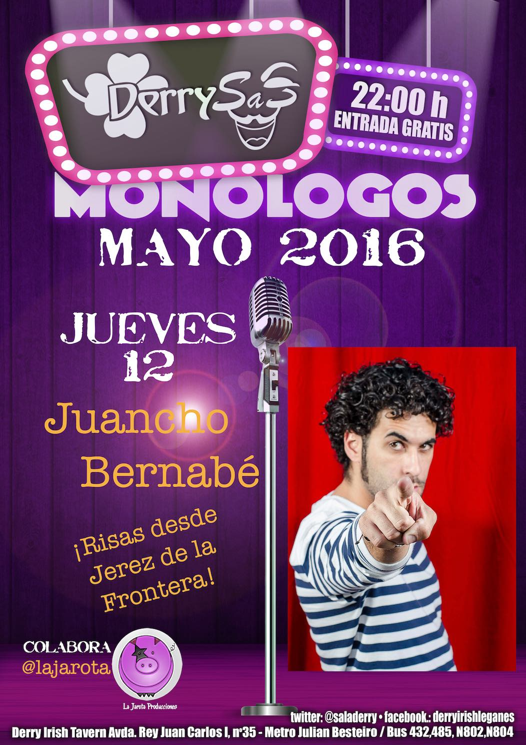 ¡Juancho Bernabé en Derry Irish Tavern!