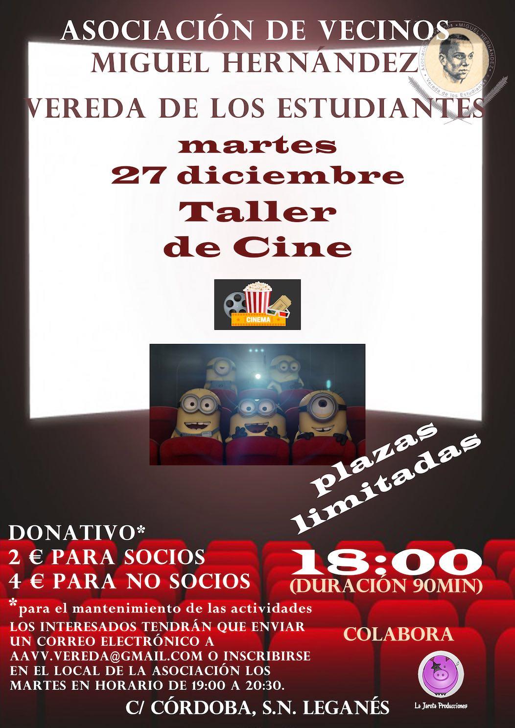 Taller de Cine en Vereda de los Estudiantes