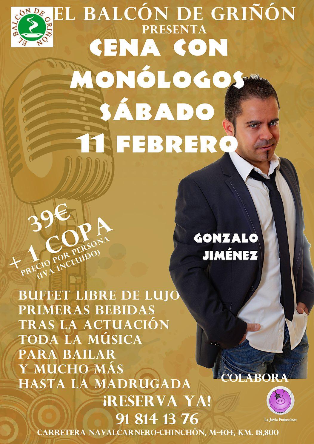 Cena con Monólogos en El Balcón de Griñón