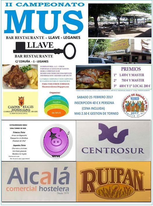II Campeonato de Mus en Restaurante Llave