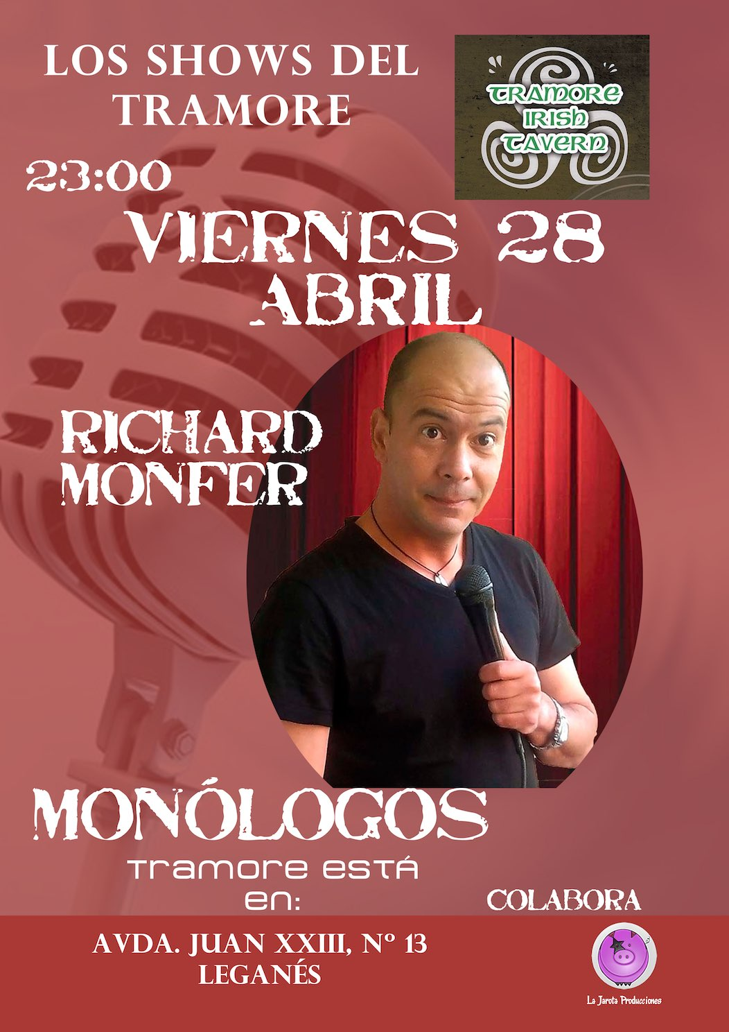 ¡Richard Monfer en Tramore Irish Tavern!