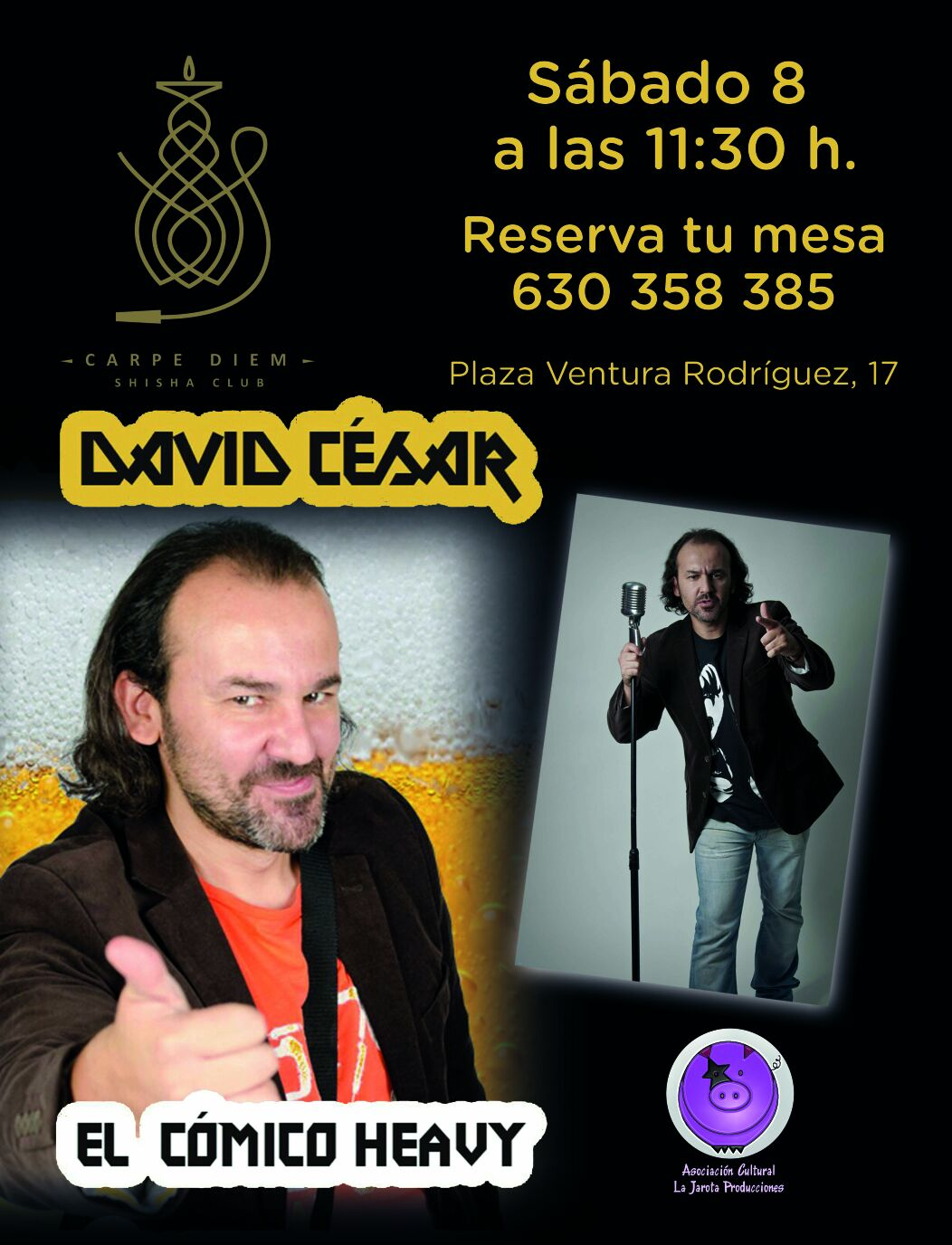 David César en el Carpe Diem Sisha Club