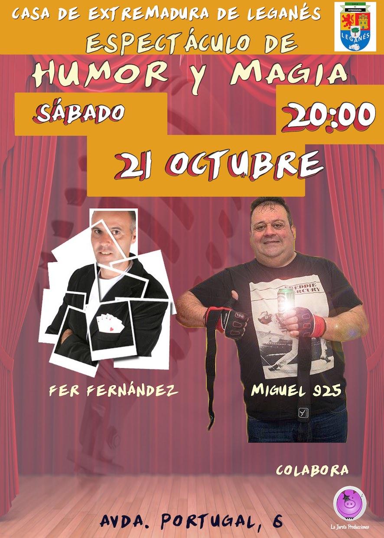 Humor y Magia en la Casa de Extremadura de Leganés