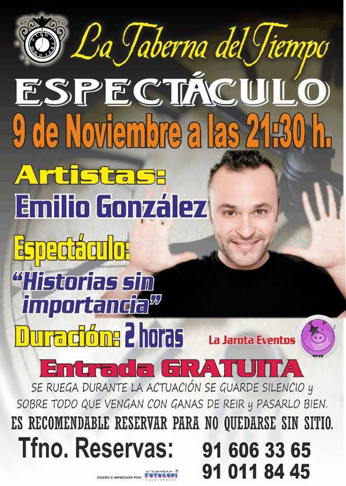 Emilio González en La Taberna del Tiempo