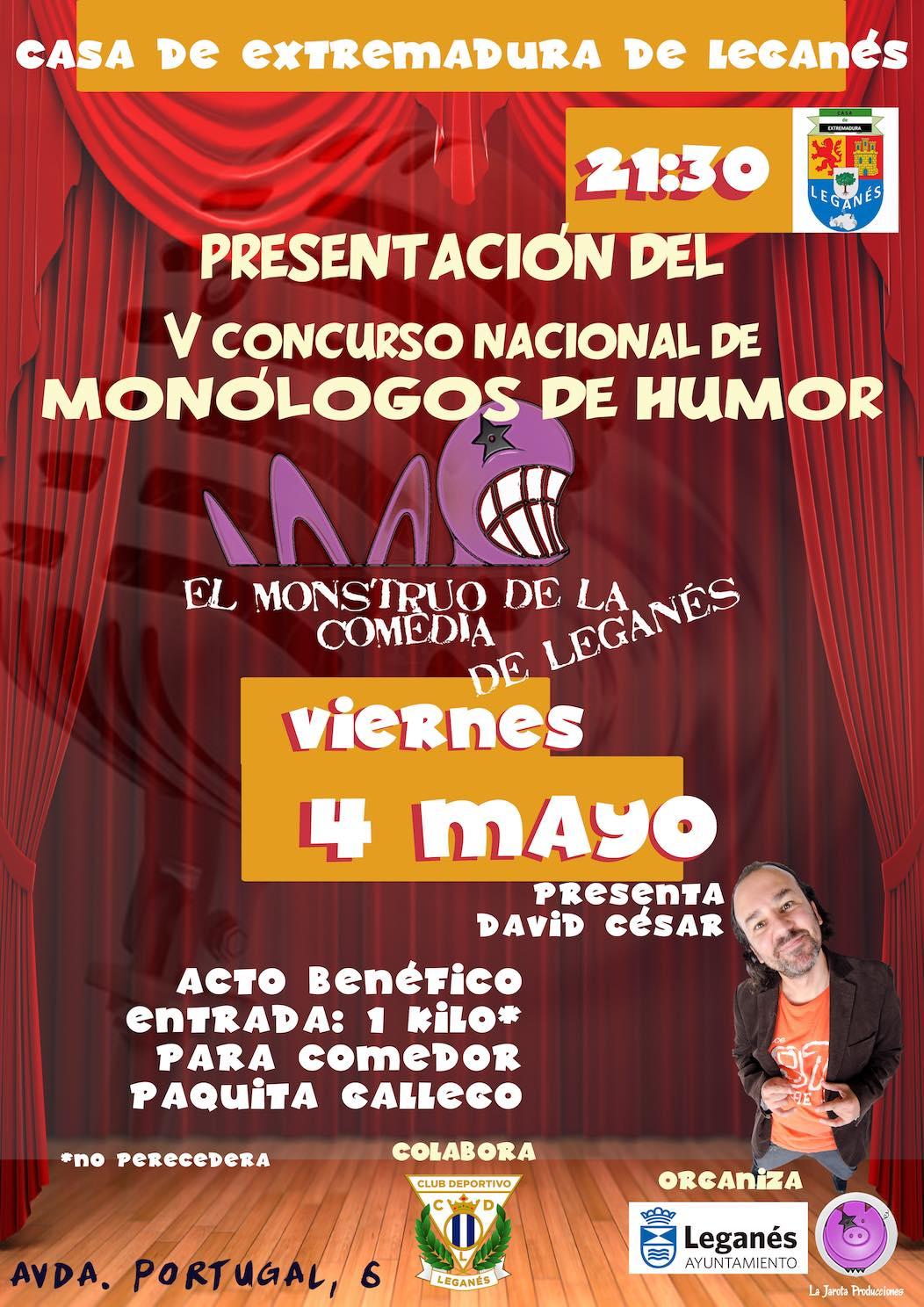 Presentación de El Monstruo de la Comedia - V de Leganés