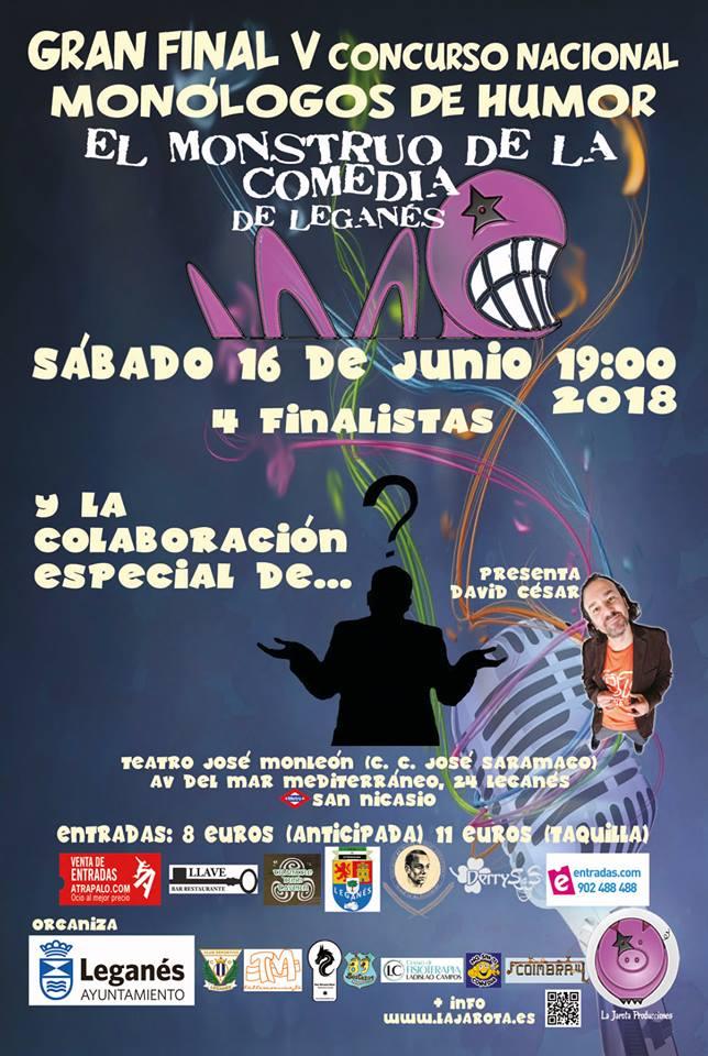 """Gran Final de """"El Monstruo de la Comedia de Leganés - V"""""""