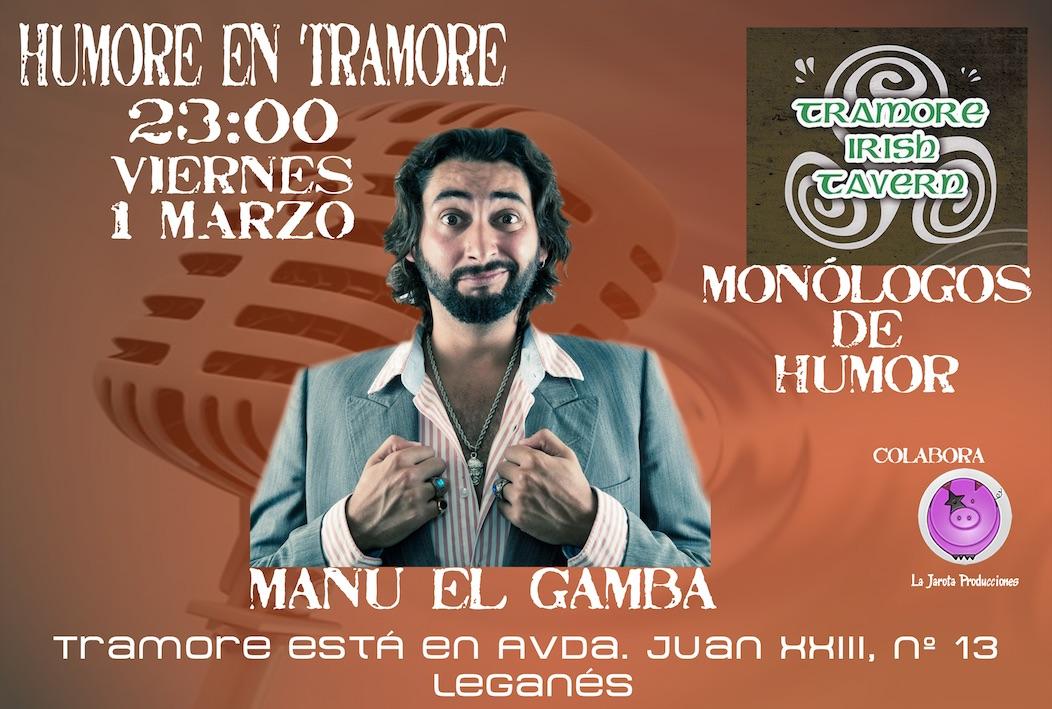 Manu El Gamba en Tramore Irish Tavern
