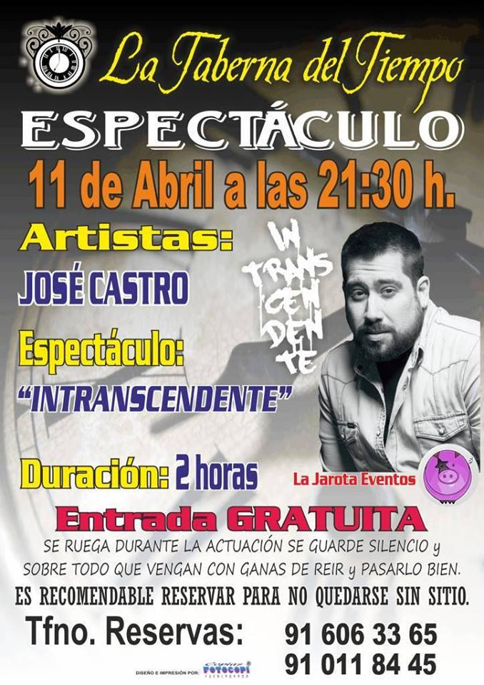 José Castro en La Taberna del Tiempo