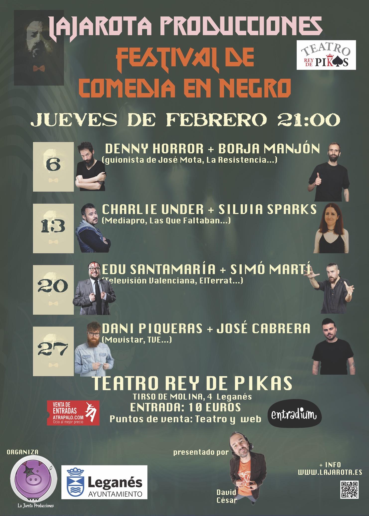 ¡Festival de Comedia en Negro!